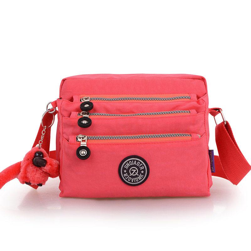 New Hot Women Messenger Bag Ladies Crossbody Bags Handbag Waterproof Nylon zipper pocket solid ten-color optional Small Monkey<br><br>Aliexpress