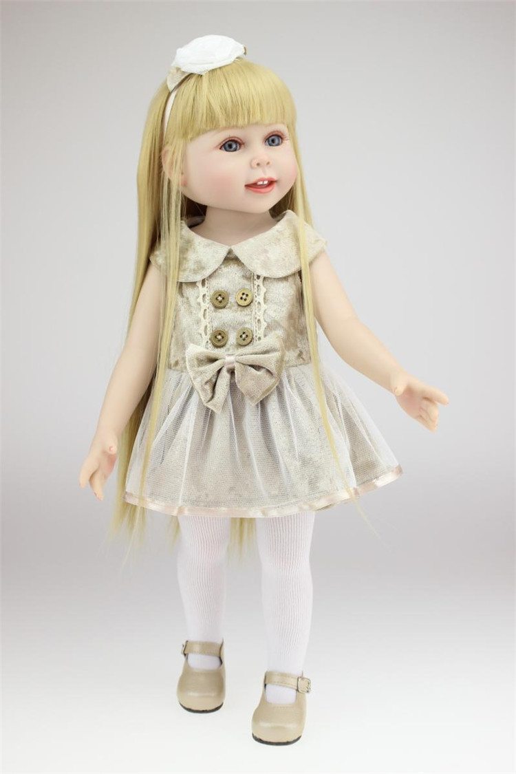 NPK 18 inch full vinyl American Girl Dolls baby reborn Hobbies Baby Alive Doll For Girls Toys boneca reborn
