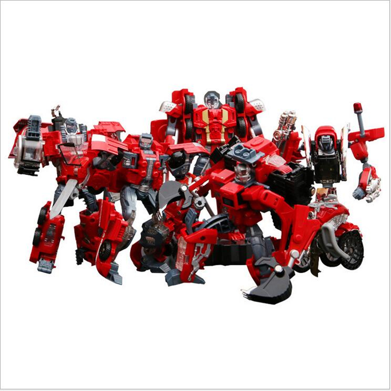 Transformable Toys Deformation Ambulance/Fire engine/Motorcycle/Crane/Excavator Action Robot Kids Toy Gift for Children(China (Mainland))