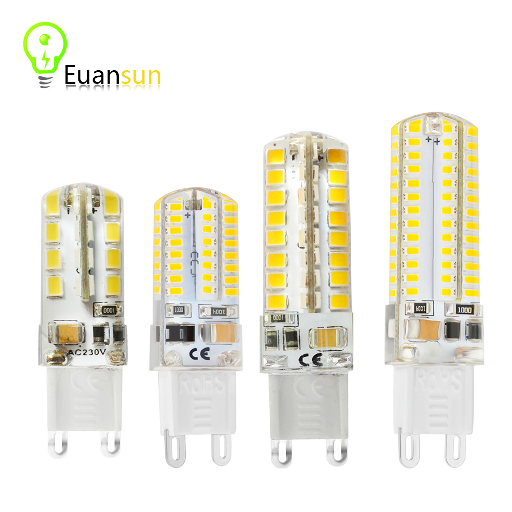 G9 led corn Lamp Bulb AC 220V 3014 2835 5w 6w 9W 10W LED Crystal Silicone Candle Replace 20-40W halogen lamps Christmas light(China (Mainland))