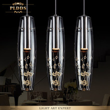 Modern home dining room decoration 15W led crystal pendant light living room lights bar acount  led crystal lamp free shipping(China (Mainland))