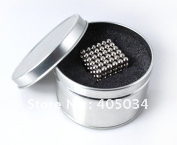 Neocube Buckyballs Magnetic ball Magic cube 5mm Nickel DHL free shipping 10SETS(China (Mainland))