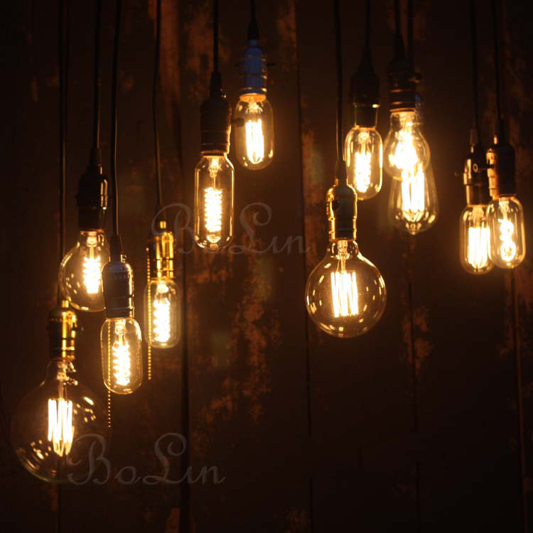 40w antique retro vintage edison light bulb e27 incandescent light bulbs st64 filament bulb edison lamp fixtures home decoration - Decorative Light Bulbs