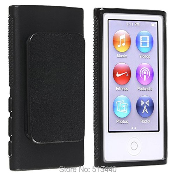 Belt Clip TPU Rubber Skin Case Cover for Apple iPod Nano 7th Generation 7G 7(China (Mainland))