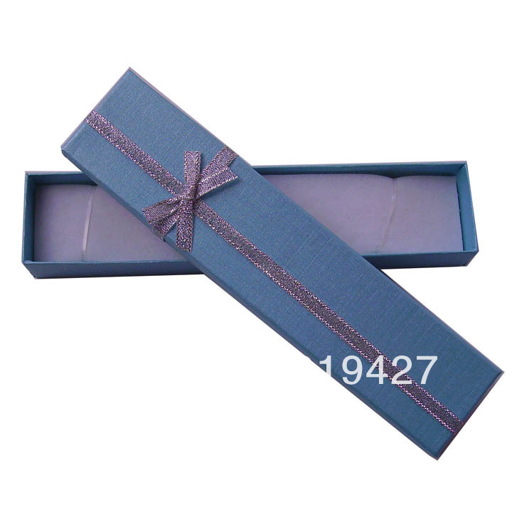 Free shipping Light Blue Gift Paper Jewelry Boxes, Ring cases, Earring Box Size 20*4cm 24pcs/lot cheap China display Suppliers(China (Mainland))
