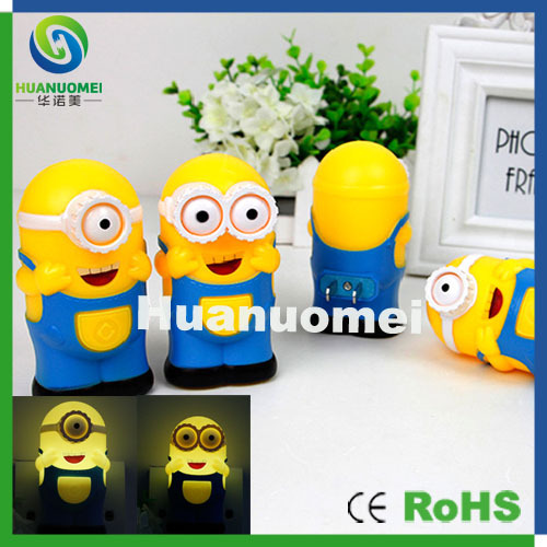 2W Warm white light led baby night ac 220V control induction Minions cute lamp  -  Shenzhen Huanuo Mei Technology Co., Ltd. store