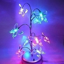 Shining Butterfly - Explosive Mini LED Night light / Gift/ Novelty / Dream Tree Lamp /DIY Lamp Free Shipping  YD1030Butterfly(China (Mainland))