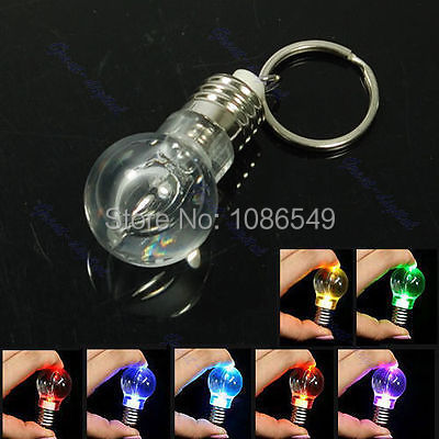 "B86""LED Flashlight Light Bulb Key Ring Keychain Lamp Torch(China (Mainland))"
