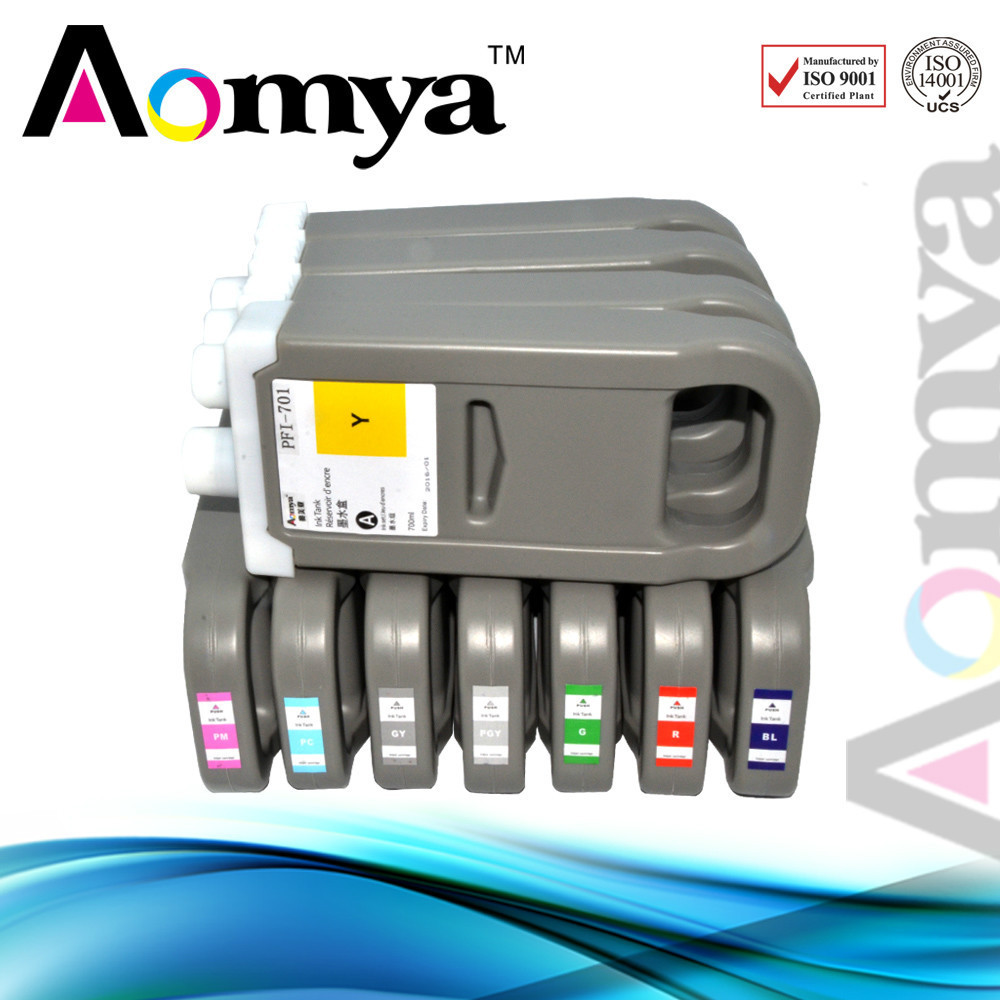 Wide foramt ink cartridge PFI-701 +702 for Canon iPF 8100 700ml,Pigment ink(China (Mainland))