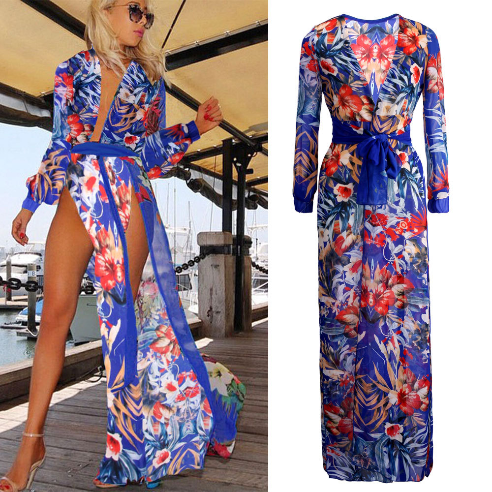 718fb1bfa4 2019 Wholesale 2015 Summer Women Sexy Swimsuit Cover Up Chiffon Plus ...