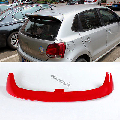 V Style Red Painted Rear Roof Spoiler Wing Lip Fit For VW Polo 6R 2010-2013<br><br>Aliexpress