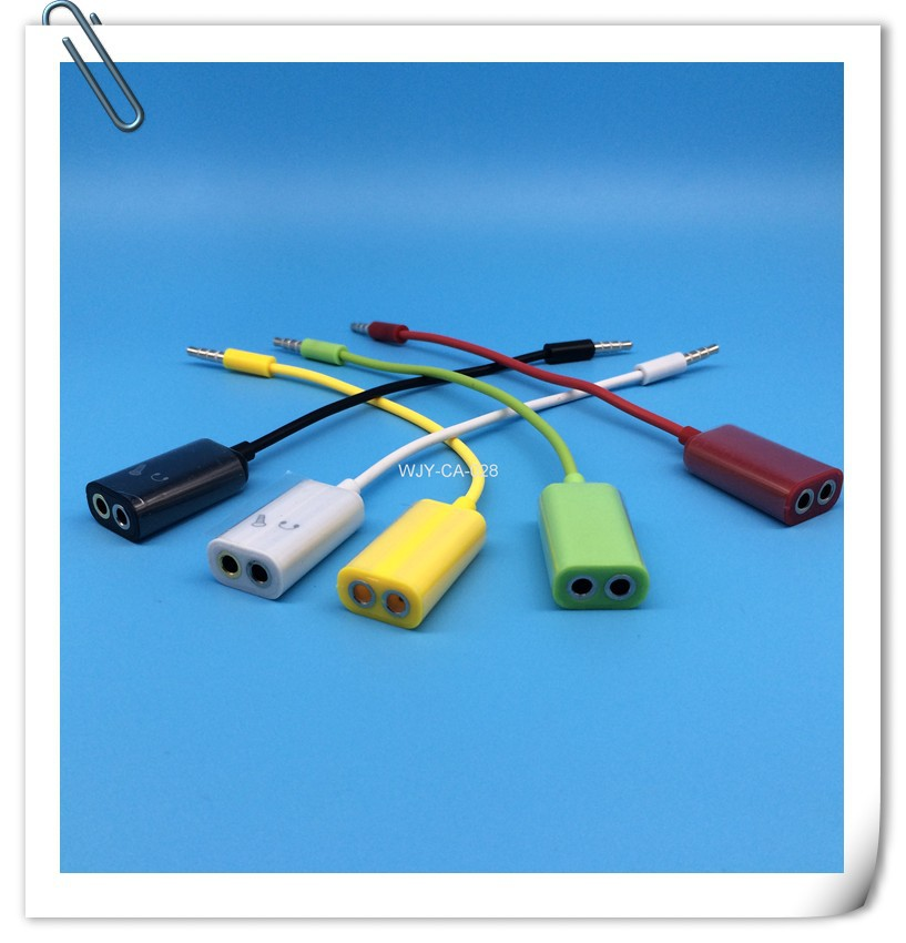Wholesale 1 Divides Into 2 Transfer Line USB Cable Tieline For Computer Laptop Mobile Phone(China (Mainland))