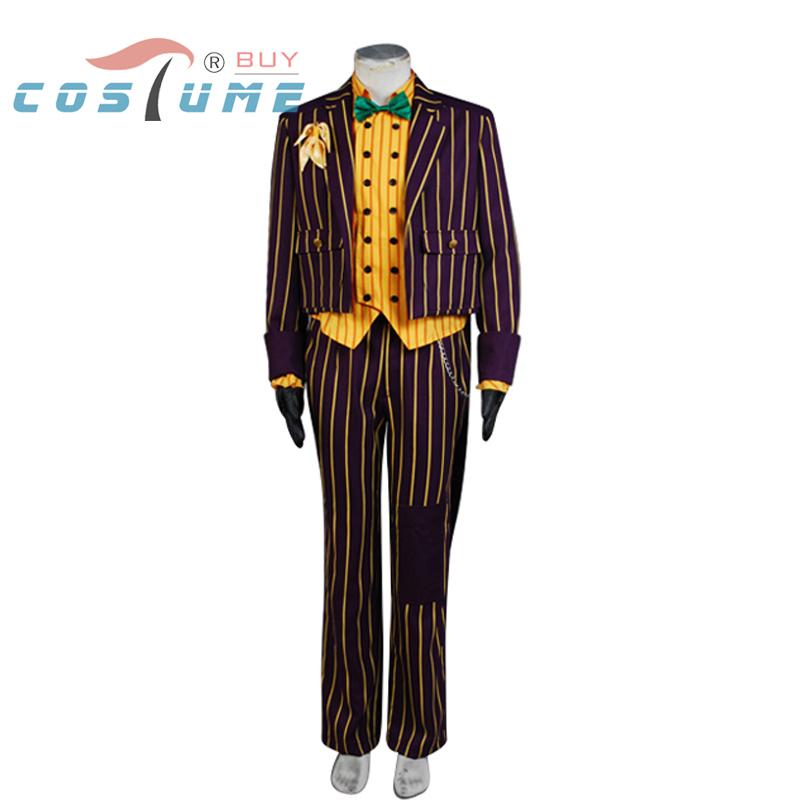 New Batman Arkham Asylum Joker Cosplay Costume Tailcoat