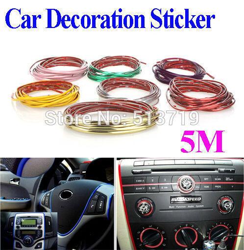 5m car auto decoration sticker thread indoor pater car for Deco interieur voiture