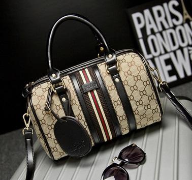 2016 new fashion handbags Shoulder Messenger portable canvas medium Boston bag pillow drums(China (Mainland))