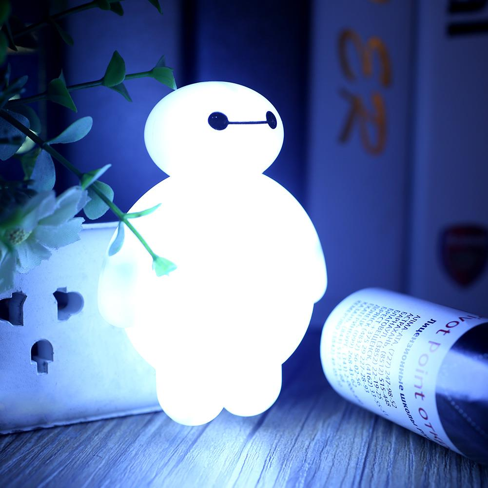 Baymax sensor led night light bedroom energy saving cute for Bedroom night light
