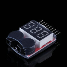 For 1-8S Lipo/Li-ion/Fe Battery Voltage 2IN1 Tester Low Voltage Buzzer Alarm Hot Sales Quality(China (Mainland))