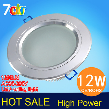 12w led ceiling lights,AC86~265V,250~290lm, Silver/Black/Gold shell,CE & ROHS,high power led down lights.