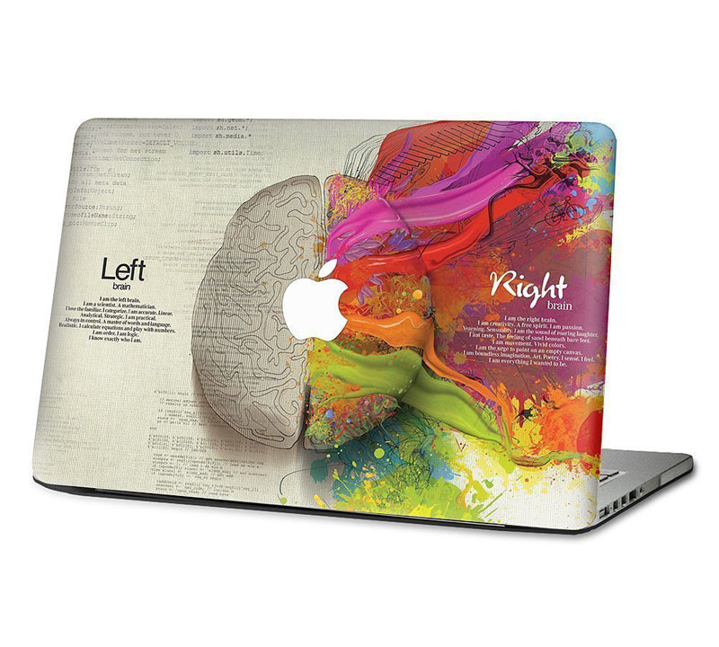 """Left and Right Brain Decal skin for Apple Macbook Vinyl Sticker Air 11"""" 13"""" Pro and Retina 12"""" 13"""" 15"""" for Mac Cover Skin(China (Mainland))"""