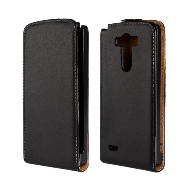 Genuine leather case for LG G3 flip cover , for LG G3 leather cover with magnetic flip in stock(China (Mainland))