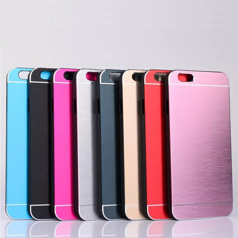 High Quality Luxury Metal Aluminum Brushed Mobile Phone Case Cover Back Protective Skin For iphone 6 4.7 Inch & 6 Plus 5.5 Inch(China (Mainland))