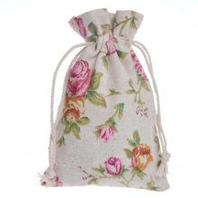 10*14 cm Algodão Doce Favores Do Casamento Bolsa de Jóias Sacos De Caixa para Os Hóspedes Presentes Fontes do Partido Do ofício DIY bebê chuveiros flor rosa Wh(China)