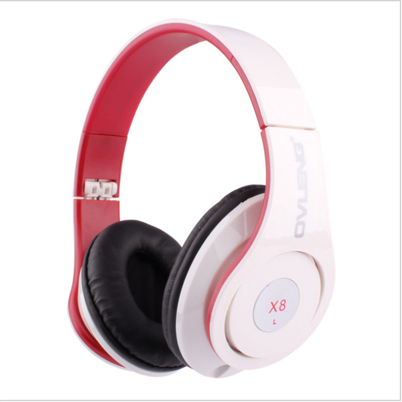 Foldable Headphones Stereo Wired 3.5mm Stereo Over-ear with Microphone Cable Controller for iPhone 4 5 6 Xiaomi Samsung Speaker