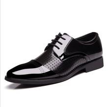 SUMMER NEW european style men fashion business dress casual shoes Qshoes  lace-up plus large size big men's shoe us14 BX8878-1