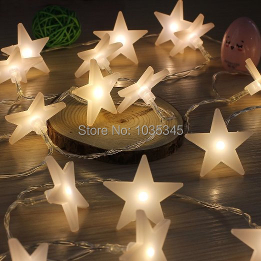 40 LED Party fairy Lights Battery Operated Five-pointed Star Christmas string lights Outdoor Indoor Xmas use - SUNWAY OPTOELECTRONIC CO., LTD store
