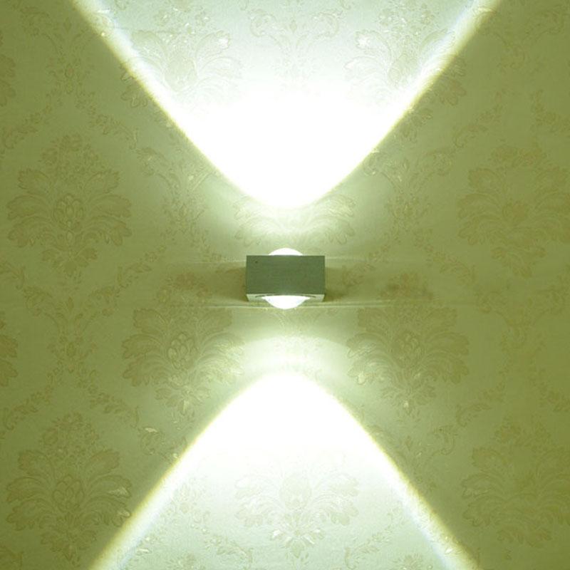 modern 6w high power 2 led up down wall lamp spot light sconce lighting led wall cheap sconce lighting