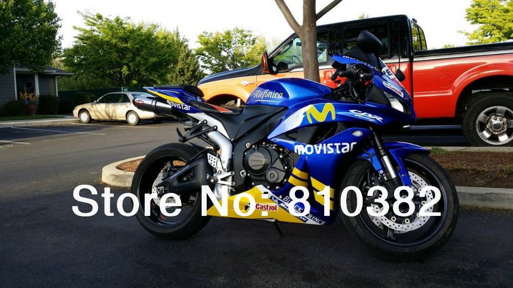 Injection Motorcycle Fairing kit HONDA CBR600RR F5 07 08 CBR 600RR 2007 2008 CBR600 Movistar blue yellow Fairings set HG99 - FAIRING KIT Co. Ltd store