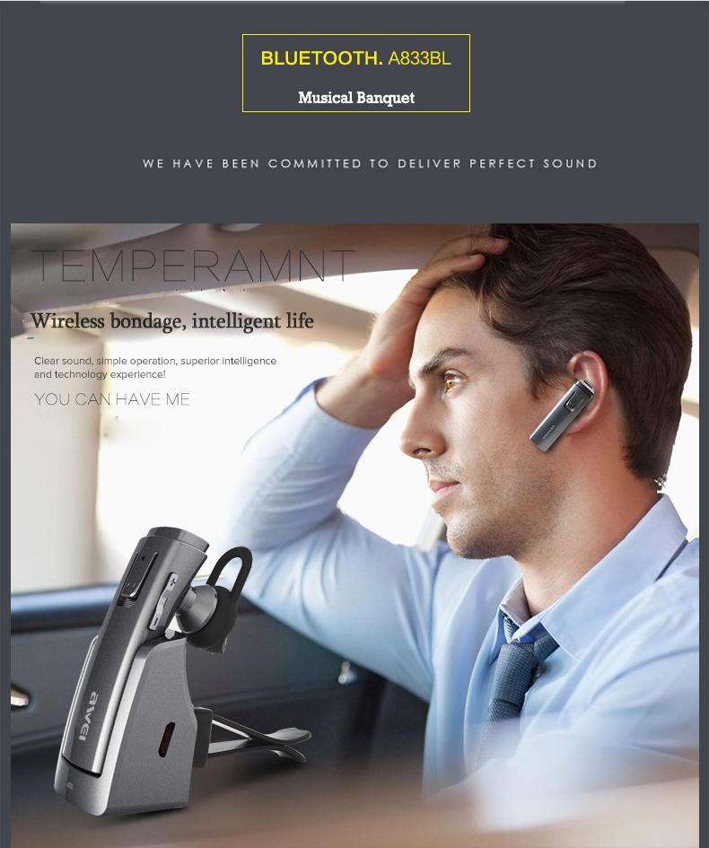 awei a833bl bluetooth earphone wireless stereo headphones. Black Bedroom Furniture Sets. Home Design Ideas