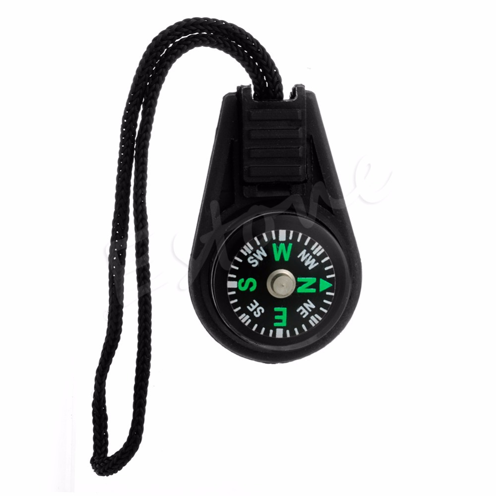Free Shipping NEW Zipper Pull Mini Compass Backpack Bag Strap Charm Sport(China (Mainland))