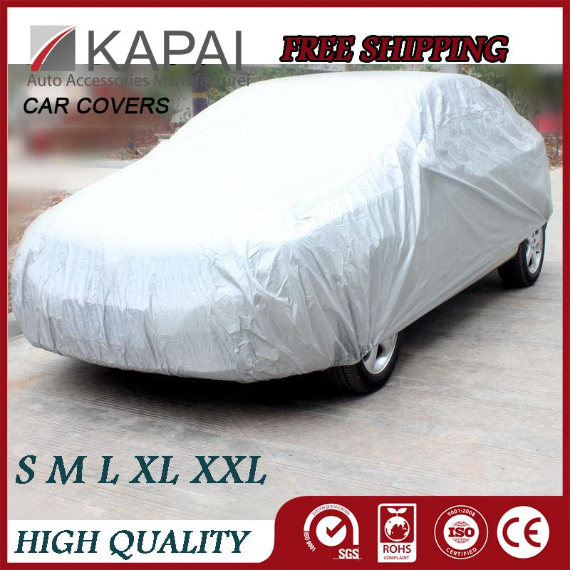 Car Covers Case For Cars Silver Peva Multi Size Car Cover Breathable UV Protection Waterproof Outdoor Shield Car Covers Styling(China (Mainland))