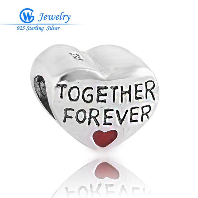 925 стерлингового серебра ювелирные изделия вместе навсегда любовь очарование подходит ...
