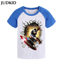 Captain America Iron Man Spiderman children t shirts boys t shirt summer spring clothing brand costume kids clothes tees tops(China (Mainland))