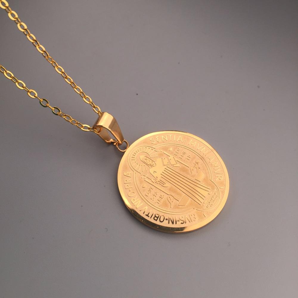 18k gold plated round jesus pendant hip hop christian