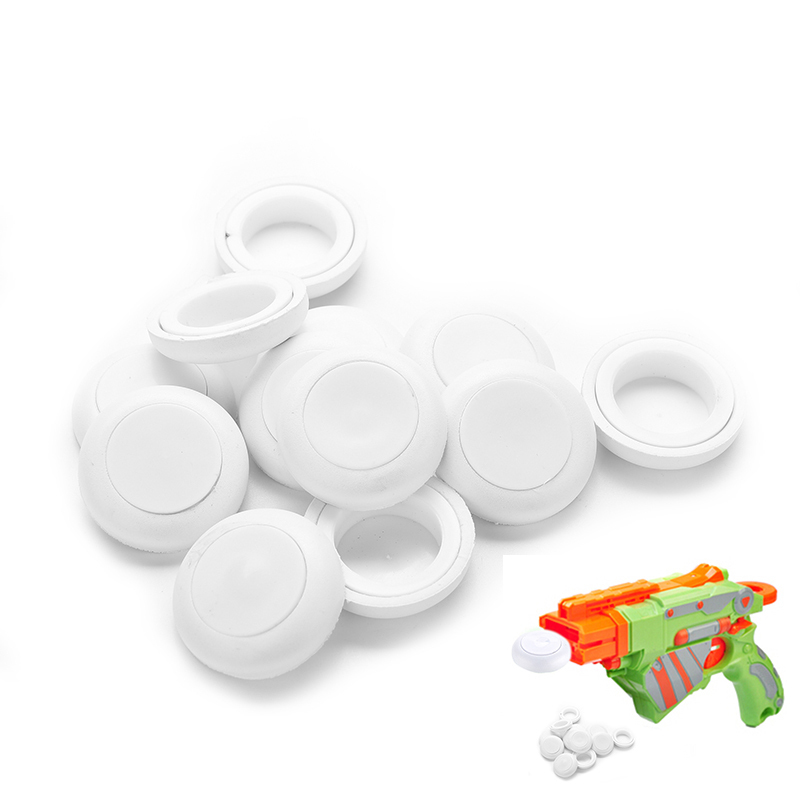 12 Pcs New Mini Foam Frisbee Soft Disk Gun Bullets for Nerf Gun toys White Toy Guns Accessories(China (Mainland))