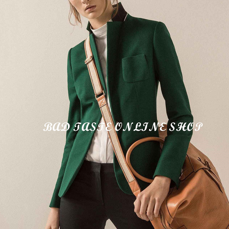Women Green Blazer
