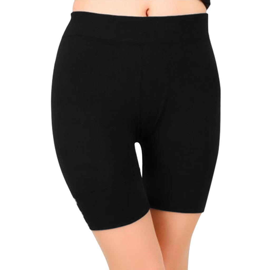 Women Solid Color Round Modal Boxer Shorts Wear A Skirt Safety Pants Leggings