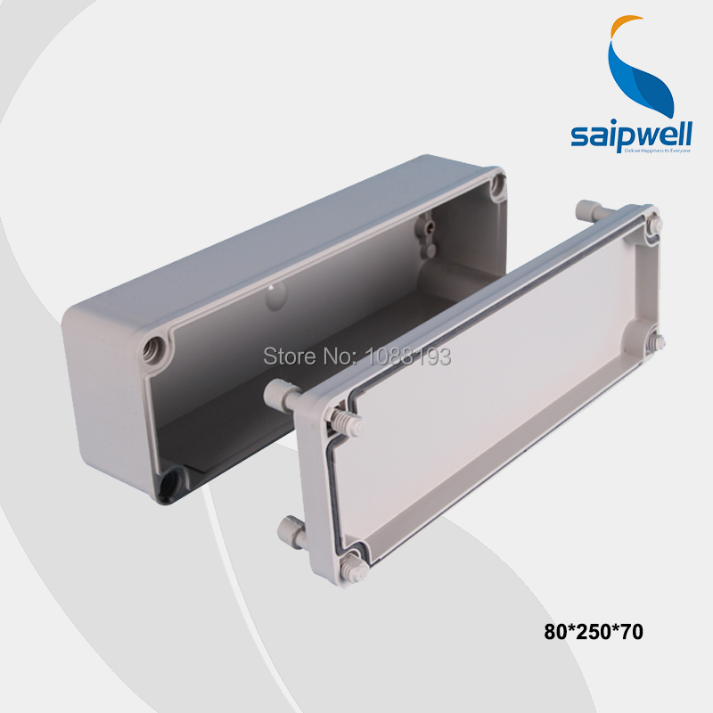 Wholesale Different Size Waterproof ABS Box Electrical Wire Junction Box 80*250*70mm(China (Mainland))