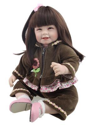22inch 55cm Reborn Child Born Barbie Doll Garments Bebe New child Doll Equipment