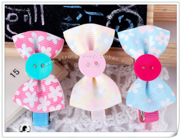 Buckle small bow hair clips little princess 2.0