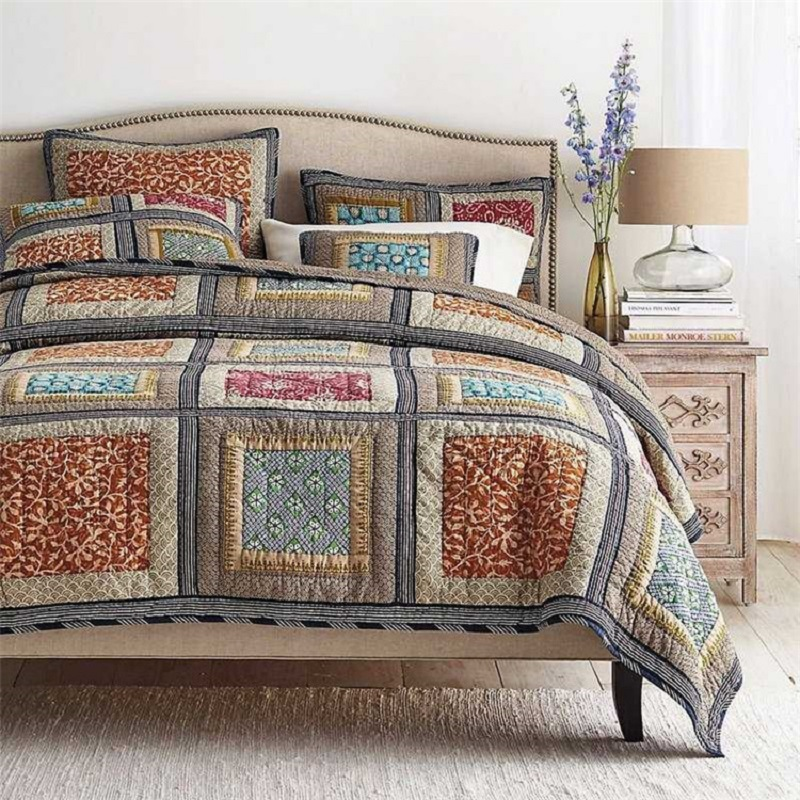 2016 New Handmade Quilts Washed Cotton Quilt Patchwork
