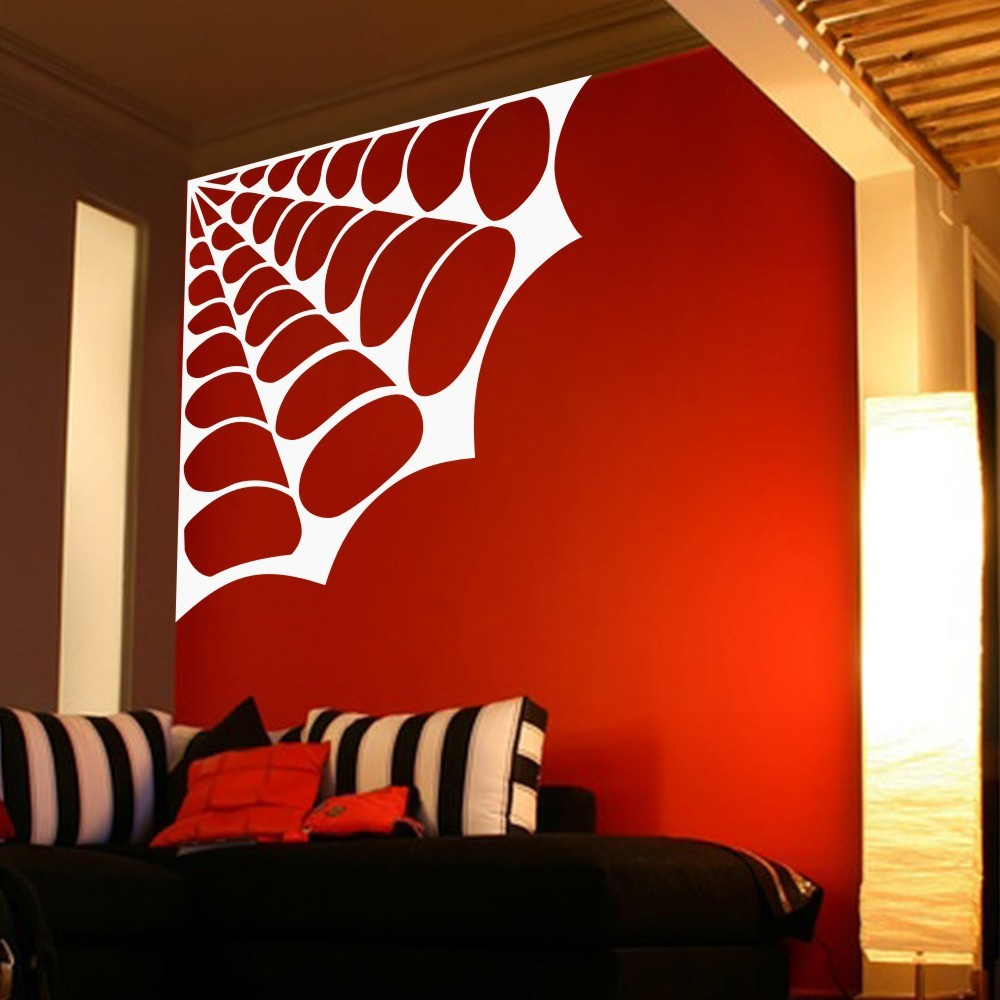 Spiders web wall sticker home decor spider vinyl decal for Home decor internet sites