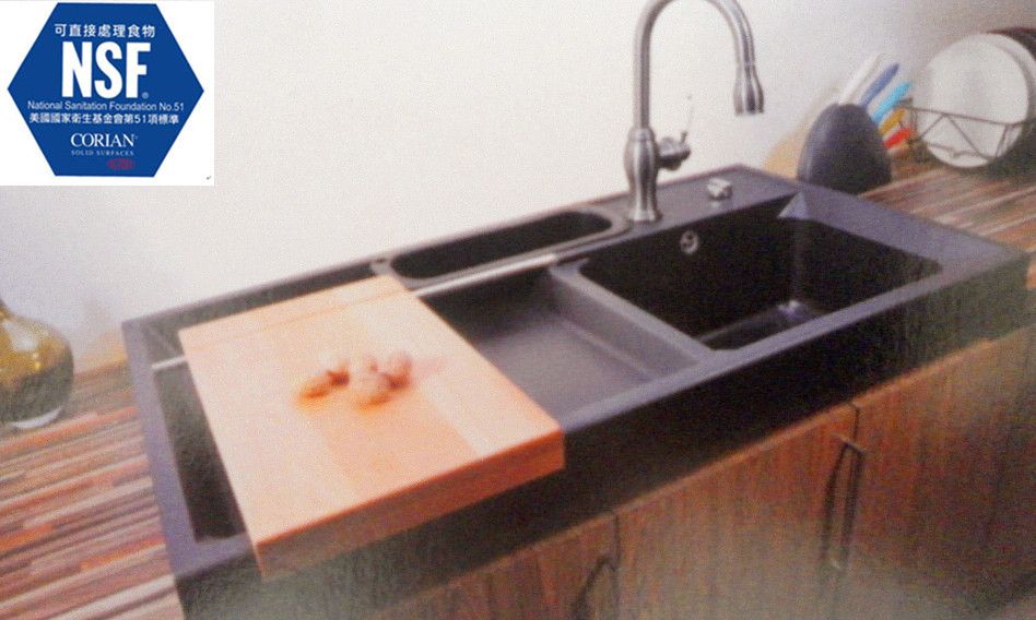 kitchen sink with drainboard. powder coated kitchen sink drain