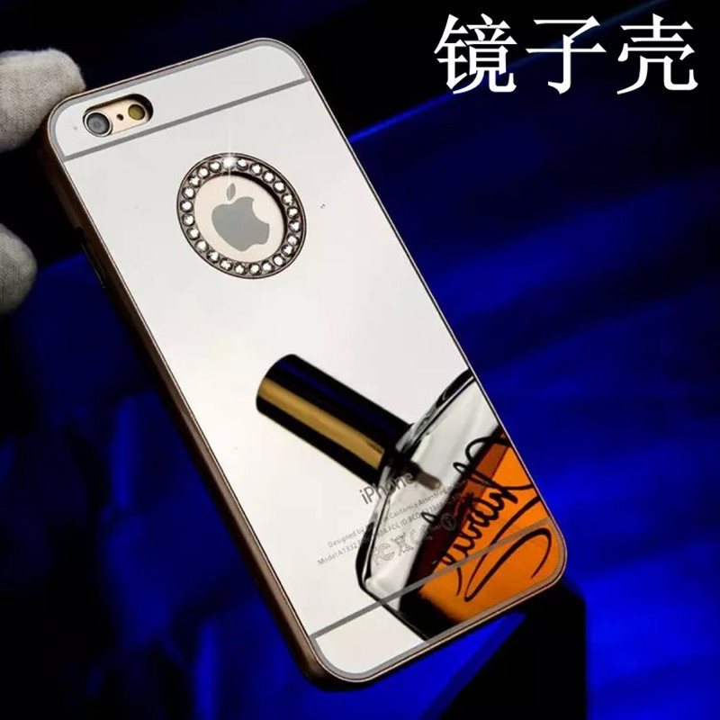 new hot Luxury Mirror Electroplating Diamond phone cases for iphone 5 5S 5G phone back cover with logo window 6 Color(China (Mainland))