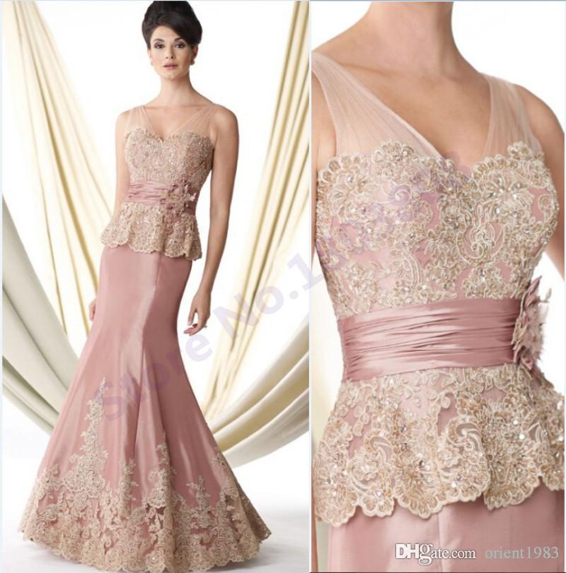 Elegant light pink vestido de madrinha mother of the bride for Light pink wedding guest dress