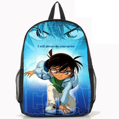 Hot Anime Case Closed Backpack Detective Conan Fashion Women Men KID Nylon Laptop School Bag(China (Mainland))