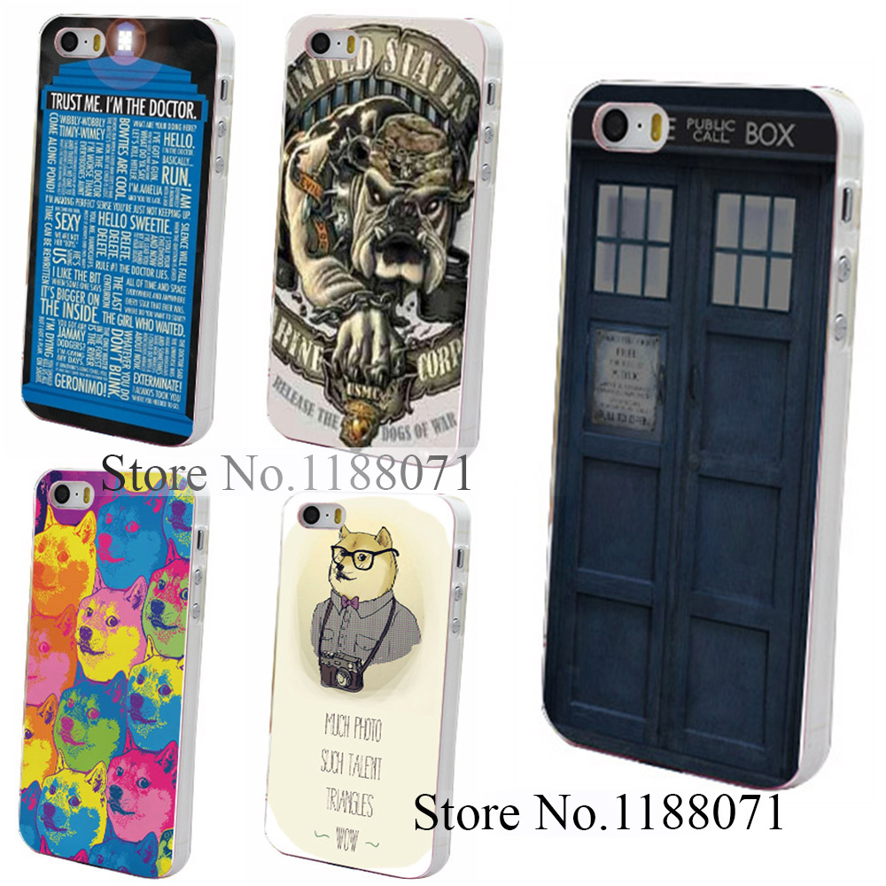 Hard Clear Skin Back Case Cover for iPhone 4 4s 4g 5 5s 5g Doctor Who British Police Box Hard Back Case Style(China (Mainland))
